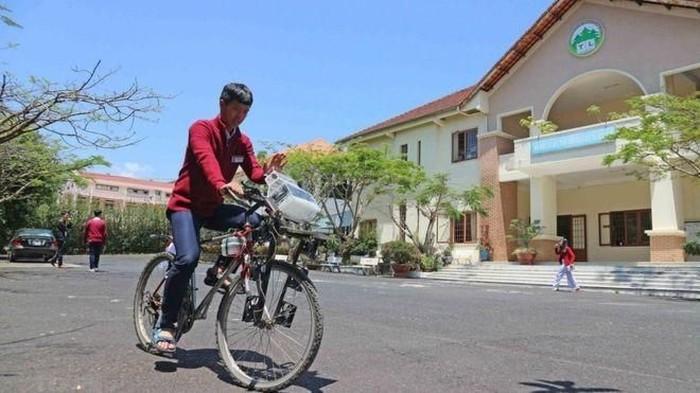 Sepeda dengan alat penyaring udara. (Foto: BBC)