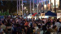 Suasana di Twilight Hawkers Market (Masaul/detikcom)