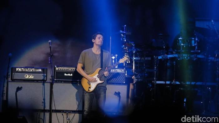 Konser John Mayer di Jakarta pada Jumat (5/4/2019)