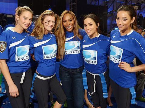 Meghan Markle dan Serena Williams serta para model di New York.