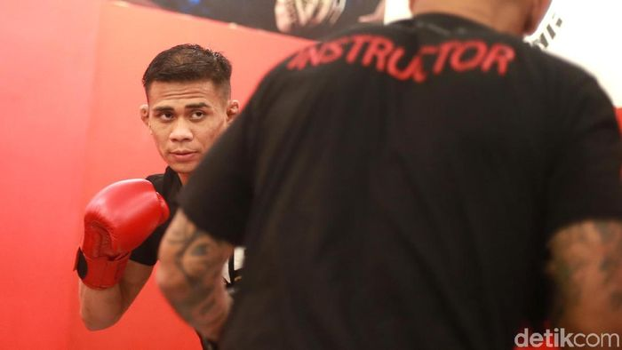 Eko Roni Saputra menatap debutnya di arena mixed martial art (MMA). (Foto: Ari Saputra/detikSport)