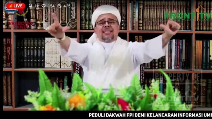 Foto: Screenshot video Habib Rizieq (Dok. Istimewa)