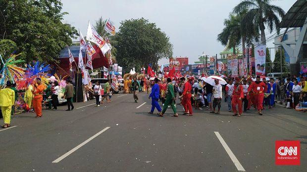 Jokowi-Ma'ruf Kampanye ala Karnaval di Kota Tangerang