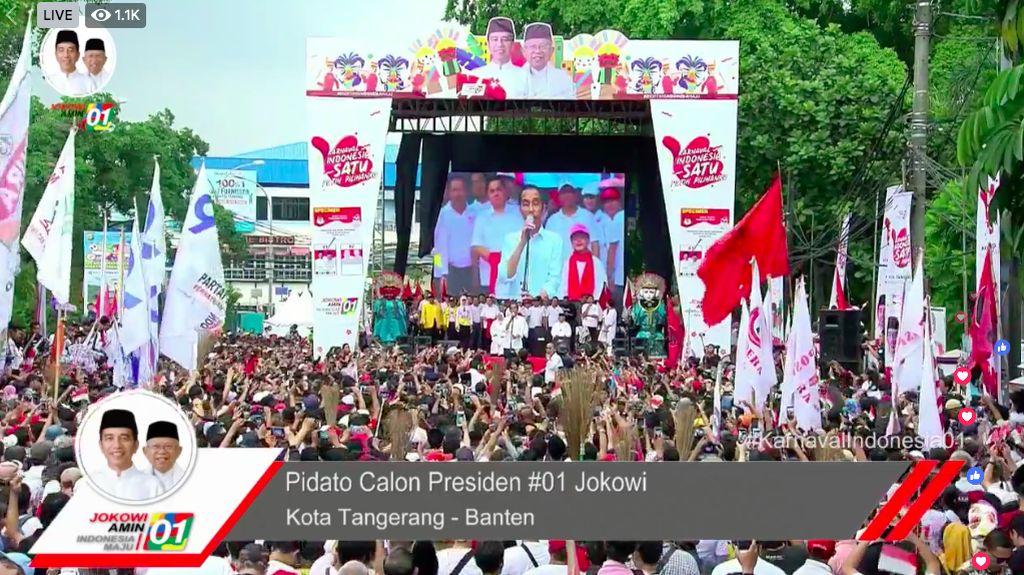 Jokowi ke Pendukung di Tangerang: Jangan Kasih Kendor!
