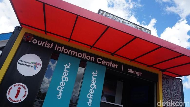Pusat informasi turis (Tourist Information Center) Bandara Silangit (Shinta/detikcom)