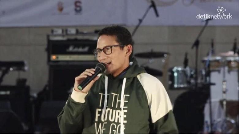 Usai Kampanye di GBK, Sandiaga Temui Milenial di Medan