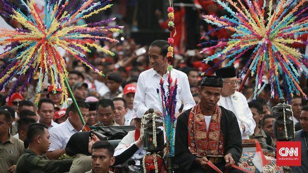 Karnaval Kampanye di Tangerang, Jokowi Sebut Bentuk Keragaman
