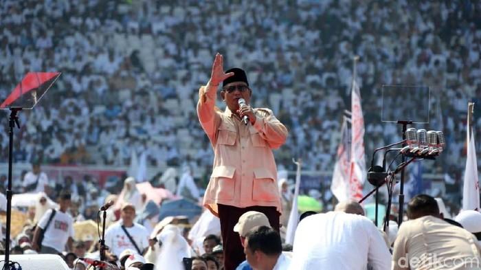 Prabowo disebut memiliki DNA tiga tokoh bangsa (Foto: Rengga Sancaya)