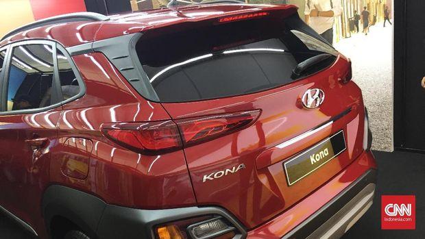 Tampak belakang Hyundai Kona.