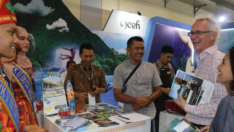 Foto: Booth Aceh di Deep and Extreme 2019 (dok Disbudpar Aceh)