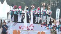 Iriana Jokowi dan Mufidah Kalla Buka Kartini Run 2019