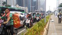 Kampanye Akbar Prabowo Selesai, Lalu Lintas Seputar GBK Macet
