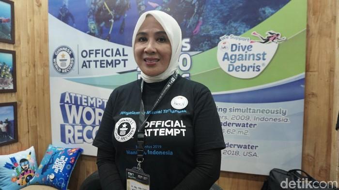 Tri Suswati, Istri Kapolri Tito Karnavian. (Foto: Frieda Isyana Putri/detikHealth)