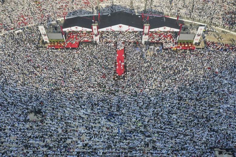 Prabowo: Kampanye Akbar di Senayan Dihadiri Satu Juta Lebih Orang