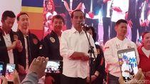 Jokowi Hadiri Deklarasi Dukungan Komunitas Olahraga di Tangerang