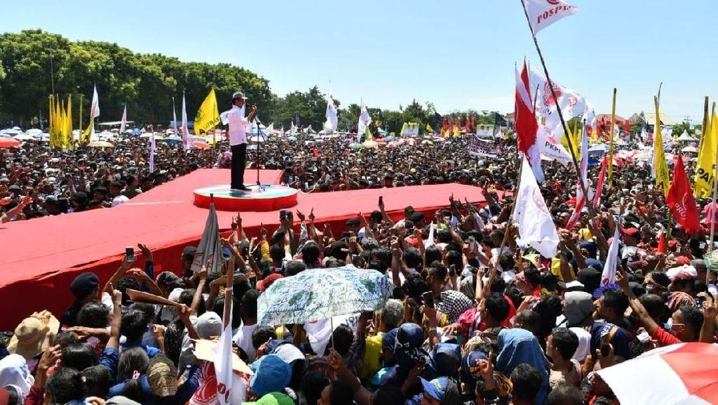 Di Depan Pendukung, Jokowi Pamer Bangun 7 Bendungan di NTT