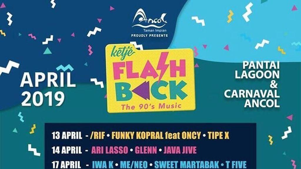 Siap Nostalgia di Konser Ketje Flashback The 90s Music Ancol