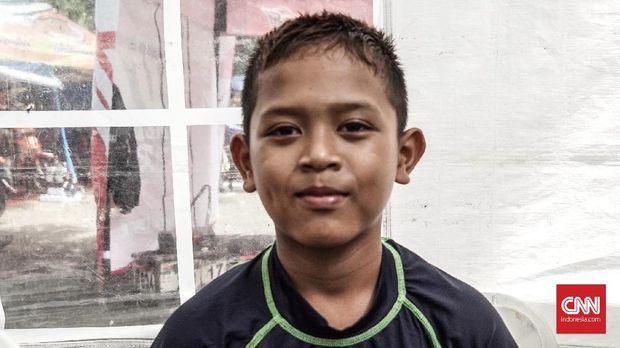 Pebalap cilik road race, Akbar Abud Afdalah, mulai berkompetisi sejak 2016 di Ramadhan Cup.