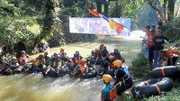 Seru! Adu Cepat River Tubing di Wonosobo