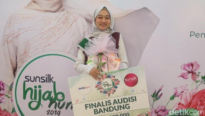 Maya Aditya Dewi, pemenang audisi Sunsilk Hijab Hunt Bandung. Foto: Hestianingsih/Wolipop