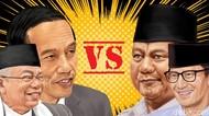 Real Count KPU 16%: Jokowi-Amin 54,94% Prabowo-Sandi 45,06%