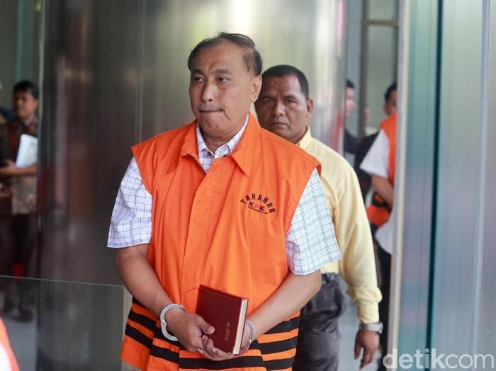 Anggota DPR Markus Nari menjalani pemeriksaan perdana pasca ditahan KPK, Selasa (9/4/2019). Markus diperiksa terkait kasus dugaan korupsi proyek e-KTP.