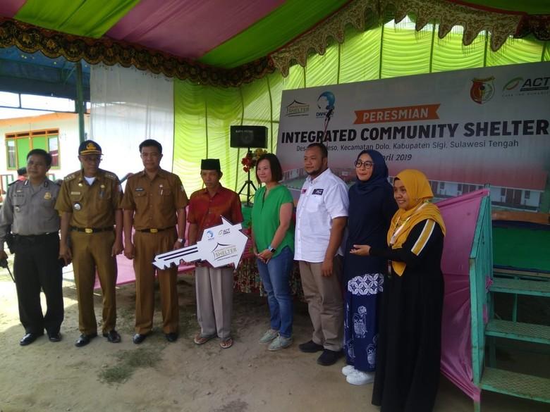 Danone-ACT Bangun Kawasan Hunian Sementara untuk Korban Gempa Sigi
