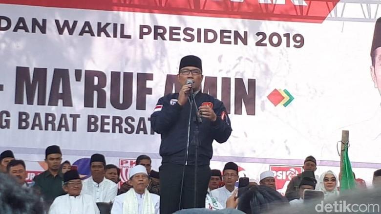 Temani Maruf Kampanye, Ridwan Kamil: 01 Sudah Menang 4% di Jabar