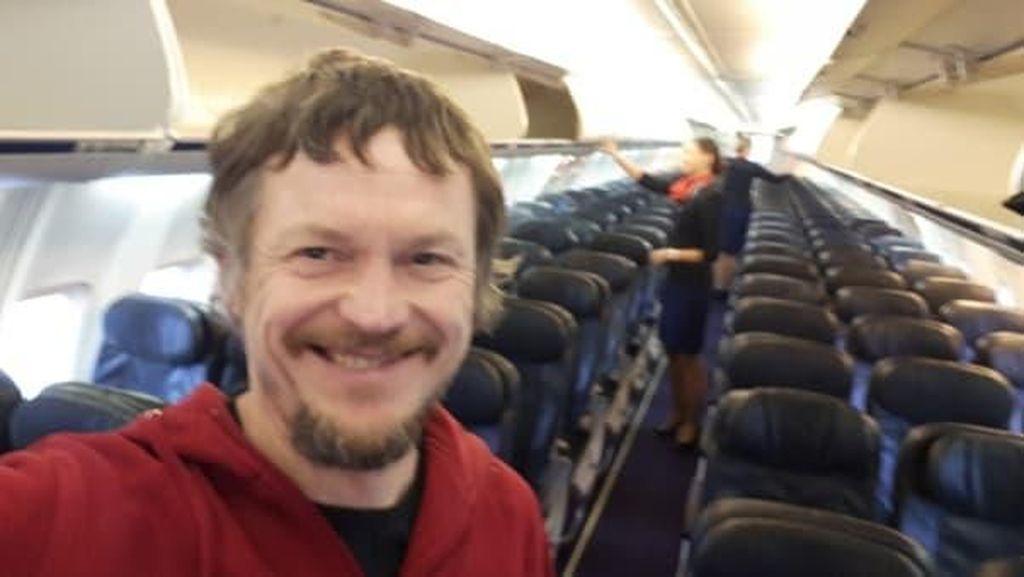 Pengalaman langka! Pria Ini Jadi Satu-satunya Penumpang Boeing 737
