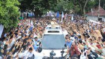 Potret Ramainya Kampanye Prabowo Sapa Wong Kito Galo