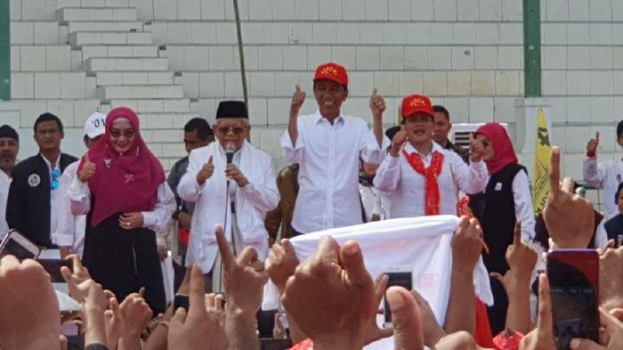 Foto: Jokowi-Maruf kampanye di Karawang. (Dok TKN)