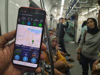 Kecepatan internet Smartfren di terowongan MRT Jakarta.