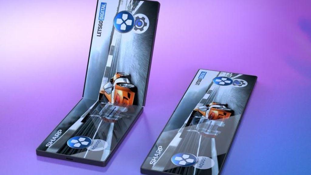 Wujud Konsep Perangkat Gaming Layar Lipat dari Sharp