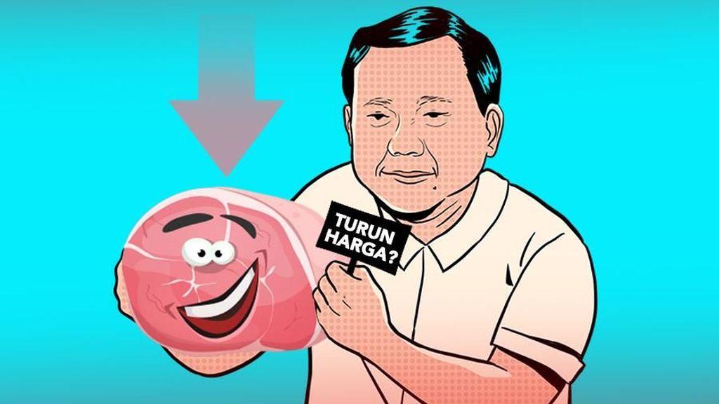 Rencana Prabowo Pangkas Harga Daging Sapi 70% Tak Realistis?