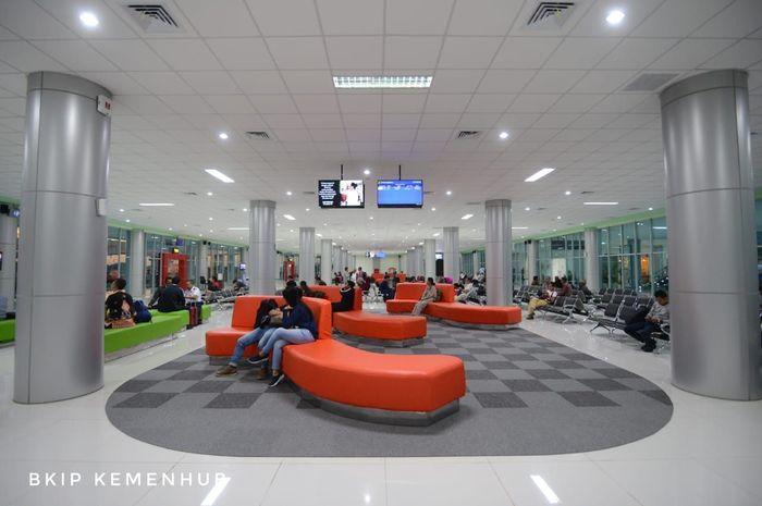 Terminal baru Bandara Tjilik Riwut memiliki luas 29.124 meter persegi yang dapat menampung hingga 2.200 orang per hari. Sebelumnya hanya memiliki luas 3.865 meter persegi dan hanya berkapasitas 600 orang. Dok. BKIP Kemenhub.