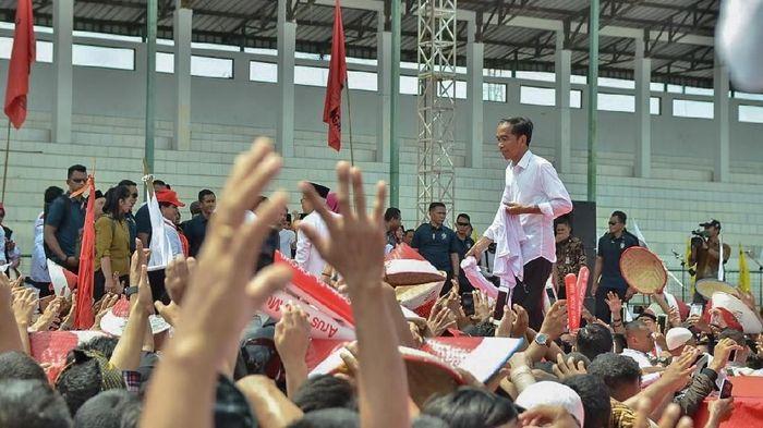 Foto: Jokowi Kampanye. (Andhika Prasetia/detikcom).