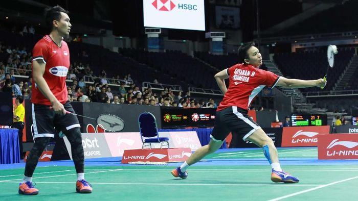 Mohammad Ahsan/Hendra Setiawan melangkah  ke semifinal Singapura Terbuka 2019 (Foto: dok. Humas PBSI)