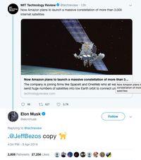 Elon Musk Sebut Bos Amazon Jeff Bezos Peniru, Kenapa?