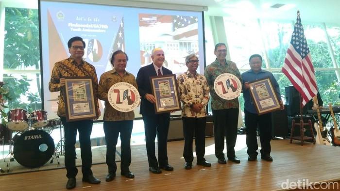 Peringatan 70 tahun hubungan diplomatik RI-AS Foto: Zakia Liland/detikcom