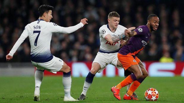 Manchester City mengejar ketinggalan 0-1 dari Tottenham di leg kedua perempat final Liga Champions.