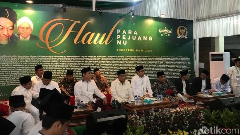 Di Acara Haul Pejuang NU, Cak Imin Doakan Jokowi-Maruf Menang