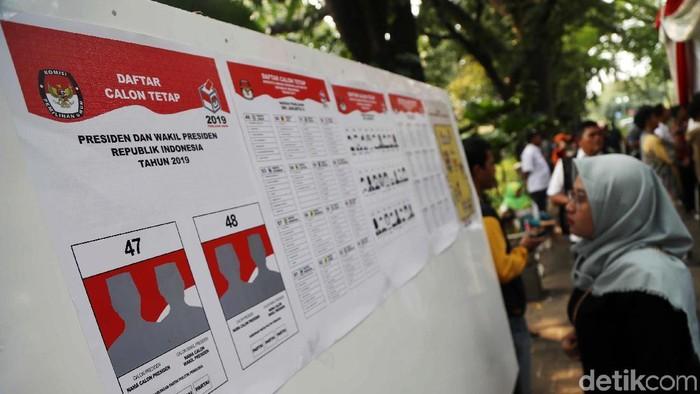 Ilustrasi simulasi pencoblosan Pemilu 2019. (Foto: Pradita Utama)