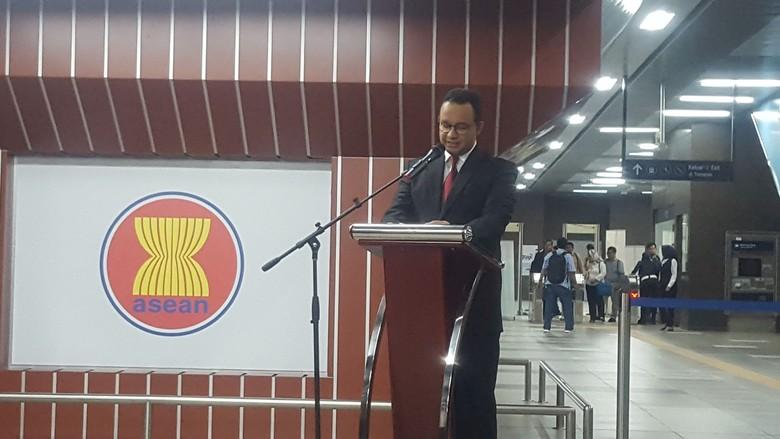 Bareng Wamenlu, Anies Resmikan Stasiun MRT ASEAN