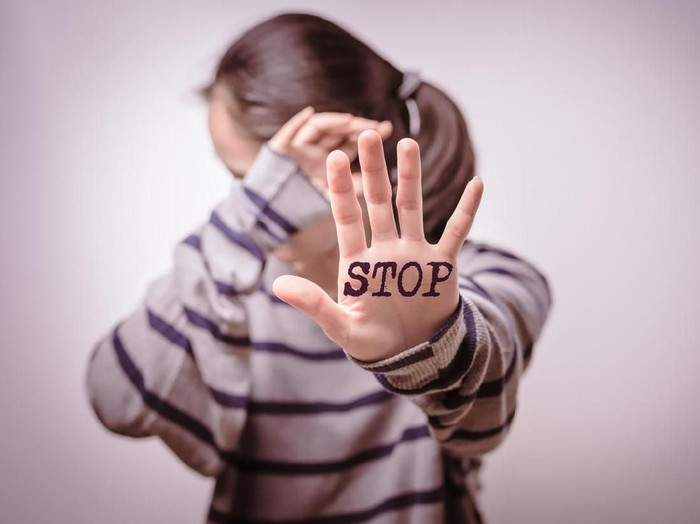 Stop violence against women, Human rights day, freedom concept, alone, sadness, emotional.