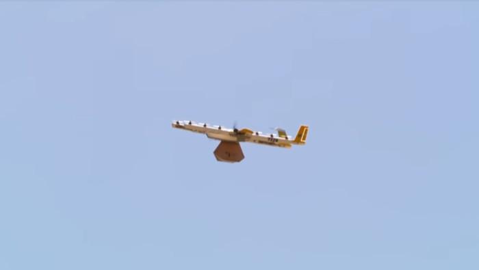 Drone pengantar barang dari Google. (Foto: Dok. YouTube)