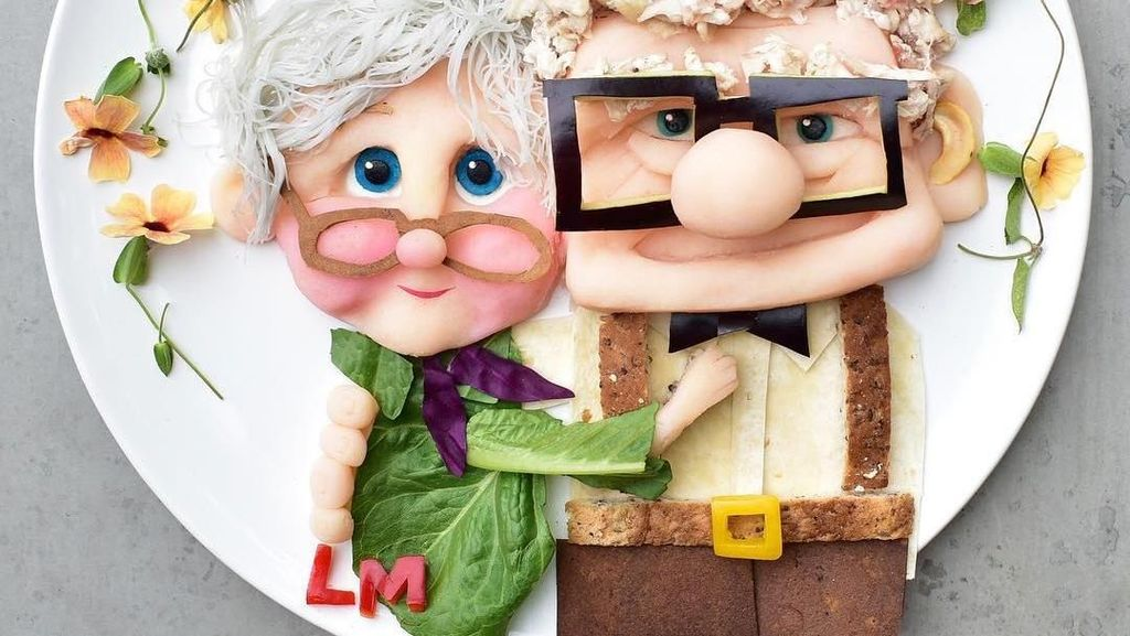 Supaya Makan Sehat, Ibu Ini Buat Makanan Anak dengan Karakter Kartun