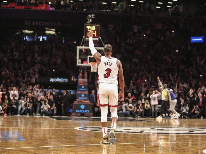 Dwyane Wade menutup kariernya dengan mencetak triple-double di laga terakhir Miami Heat musim ini. (Foto: Wendell Cruz-USA TODAY Sports)