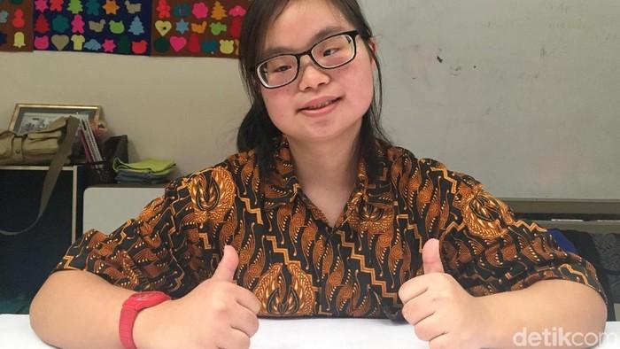 Alice patahkan stigma pada penyandang down syndrome. Foto: Frieda Isyana Putri/detikHealth