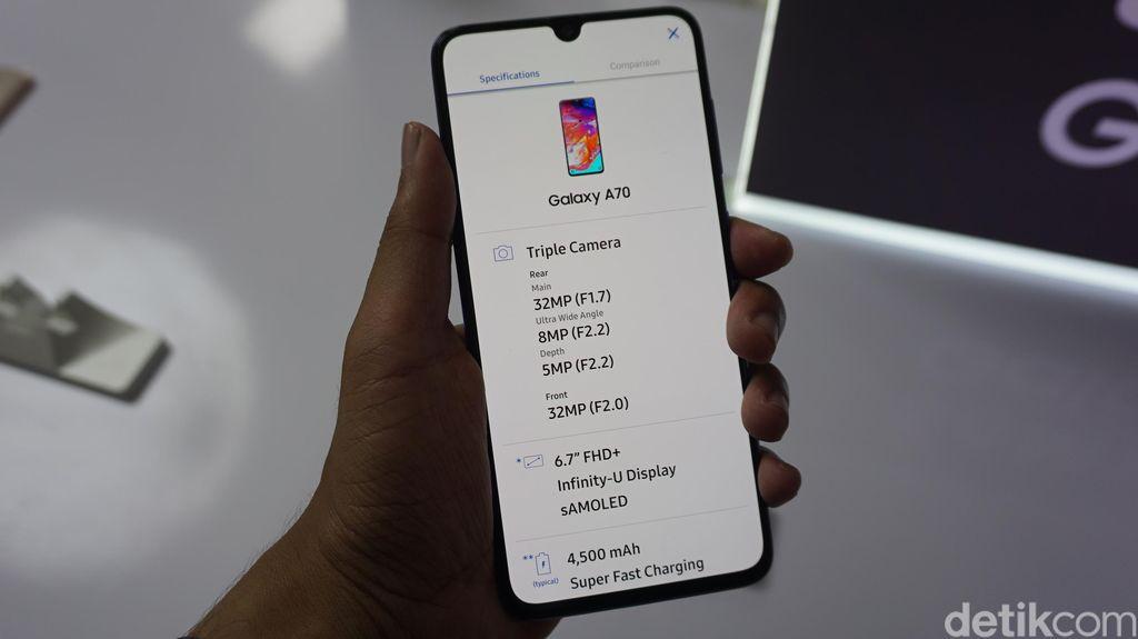 Ponsel kelas menengah ini dijadwalkan hadir di Indonesia mulai 18 April 2019 dengan harga Rp 5,799 juta. (Foto: detikINET/Firdaus Anwar)