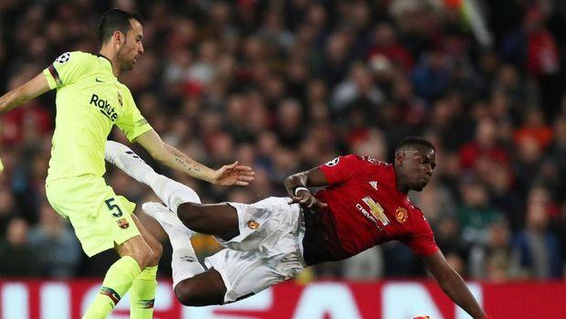 Manchester United kalah 0-1 dari Barcelona di Stadion Old Trafford. (